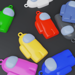 cha.png Download free STL file AMONG US KEYCHAIN 2 PIECES • 3D print design, TNT_Models