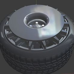 r1.JPG Download free OBJ file OZ Wheels Turbofan and Tires for diecast and RC model 1/64 1/43 1/24 1/18 • 3D print design, TNT_Models
