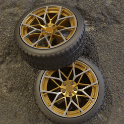 0 (1).png Download STL file Bavarian Style 2  Wheel set for diecast and modelkit • 3D printable design, BlackBox
