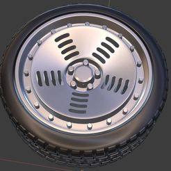 b1.JPG Download free OBJ file Rotiform BM1 Wheel and Tire for diecast and RC model 1/64 1/43 1/24 1/18 • 3D print object, Tn_Auto_Models