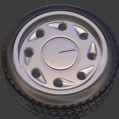 g1.JPG Download free OBJ file Classic Tear Drop Wheel and Tire for diecast and RC model 1/64 1/43 1/24 1/18 • 3D printing template, Tn_Auto_Models