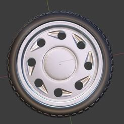 g0.JPG Download free OBJ file Classic Tear Drop Wheel and Tire for diecast and RC model 1/64 1/43 1/24 1/18 • 3D printing template, TNT_Models
