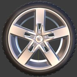 """q1.JPG Download OBJ file Volkswagen Golf """"Strong"""" Wheel and Tire for diecast and RC model 1/64 1/43 1/24 1/18 • Object to 3D print, TNT_Models"""