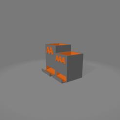 21porta batterie v2.png Download free 3MF file BATTERY HOLDER • 3D printing object, salvatoredibaia