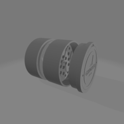 Component6 tot v1.png Download STL file Grinder weed • 3D printable design, salvatoredibaia