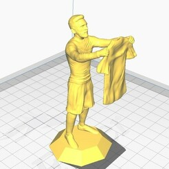 messicamisetaybase1.jpg Download STL file Lionel Messi celebrating by showing a base jersey • 3D printing template, maxielenviado
