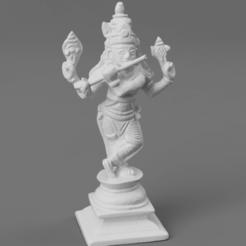F035.The_Eighth_Avatar_Lord_Krishna_(The_Divine_Statesman)_SQ_2020-Nov-15_11-53-33AM-000_CustomizedView18839808079.png Télécharger fichier STL gratuit Huitième avatar de Vishnu - Krishna (Le divin homme d'État) • Design pour impression 3D, ScanHinduHeritage