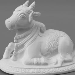 F013.Nandi_Brass_SQ_2020-Nov-15_07-20-43AM-000_CustomizedView22053739081.png Télécharger fichier STL gratuit Nandi le veau taureau • Modèle à imprimer en 3D, ScanHinduHeritage