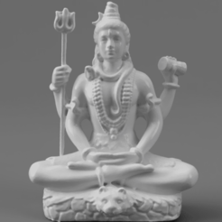 F026.Shiva_SMLBLK_SQ_2020-Nov-16_02-17-28AM-000_CustomizedView16075673213.png Download free STL file Shiva in Meditation on Tiger Skin • 3D printable template, ScanHinduHeritage