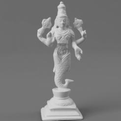 FThe_First_Avatar_Matsya_(The_Fish)_SQ_2020-Nov-15_07-39-10AM-000_CustomizedView28588714416.png Télécharger fichier STL gratuit Premier avatar de Vishnu - Matsya (Le poisson) • Modèle imprimable en 3D, ScanHinduHeritage