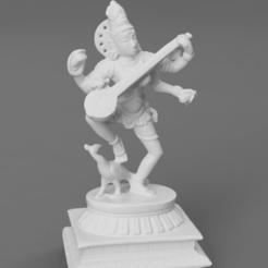 F015.Saraswati_veena_peacock_standing_SQ_2020-Nov-15_06-52-42AM-000_CustomizedView4786881378.png Download free STL file Saraswati Dancing with Peacock • Design to 3D print, ScanHinduHeritage
