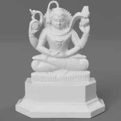 F7ae2b3a6-6da0-4fc4-b283-3eedcf827287.PNG Download free STL file Shiva in Meditation • Model to 3D print, ScanHinduHeritage