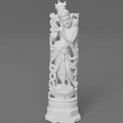 Ff46f137-72e3-4e05-97bf-7091661d0f44.PNG Télécharger fichier STL gratuit Krishna jouant de la flûte - Une sculpture en bois de santal • Plan pour impression 3D, ScanHinduHeritage