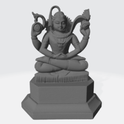 003.Shiva_sandalwood_SQf.png Download free STL file Shiva in Meditation • Model to 3D print, ScanHinduHeritage