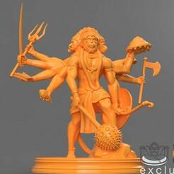 2.jpg Download free STL file Five Faced Divine Monkey - Hanuman • 3D printing template, ScanHinduHeritage