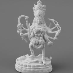F012.Maha_Kali_SQ_2020-Nov-15_06-40-50AM-000_CustomizedView10483397265.png Télécharger fichier STL gratuit Maha Kali - Déesse du temps, de la mort et du jugement dernier • Design pour imprimante 3D, ScanHinduHeritage