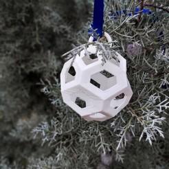 T8.jpg Download STL file Christmas Ball • 3D printable template, studiocode2