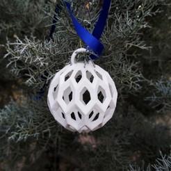 T7.jpg Download STL file Christmas Ball • 3D printable template, studiocode2