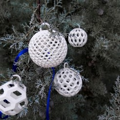 T10.jpg Download STL file Christmas Balls  (5 Shapes) • 3D print template, studiocode2