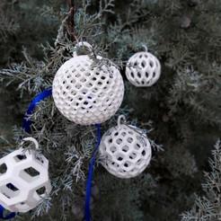 T10.jpg Télécharger fichier STL Boules de Noël (5 formes) • Objet pour impression 3D, studiocode2