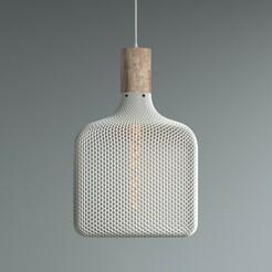 flatcubeLone.jpg Download 3MF file Flat Cube lampshade for table lamp or ceiling • 3D print template, studiocode2