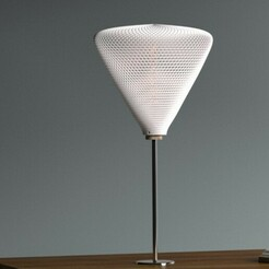 flattritablelone.jpg Télécharger fichier 3MF Abat-jour triangulaire pour lampe de table ou plafond • Plan imprimable en 3D, studiocode2