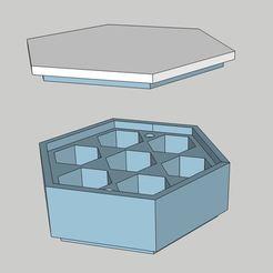 dice box.JPG Télécharger fichier STL Boîte de dés empilable à l'infini • Design pour imprimante 3D, mimicstreasure