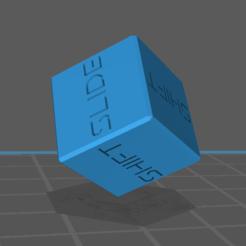 Skid Die 1.PNG Download STL file Gaslands Skid Die • 3D printer design, gloomforge