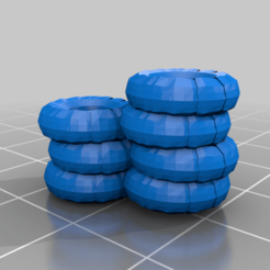double_tire_pile.png Download free STL file Gaslands Tire Piles • 3D print template, gloomforge