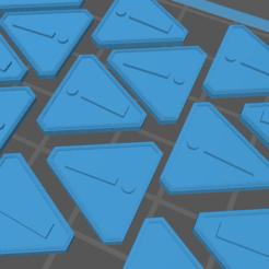 Hazard Token.PNG Download free STL file Gaslands Hazard Token • 3D printing template, gloomforge
