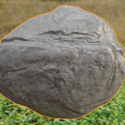 Rock image6.png Download STL file Low poly stone for games or animations • 3D print object, FelikMine