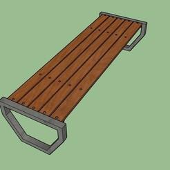 Urban bench 001.jpg Télécharger fichier STL Banc urbain • Design pour imprimante 3D, sask20203d