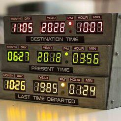 Télécharger fichier STL gratuit Futuristic clock bttf style • Objet à imprimer en 3D, jeje95
