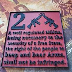 20200723_191520.jpg Download free STL file Second amendment sign • Template to 3D print, babjazz