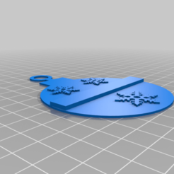 TBL_snowflakes.png Download free STL file Thin blue line Christmas tree ornaments. • Template to 3D print, babjazz