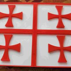 Templar_flag_2.jpg Download free STL file Templar flag 2 • Design to 3D print, babjazz