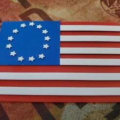 20200829_130302.jpg Download free STL file Betsy Ross flag. • 3D printing model, babjazz