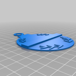 TBL_leaves.png Download free STL file Thin blue line Christmas tree ornaments. • Template to 3D print, babjazz