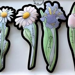 Copia_de_seguridad_de_Sin título-1.jpg Download STL file Set of 4 Flower Cookie Cutters • 3D printer object, Cookiescutters