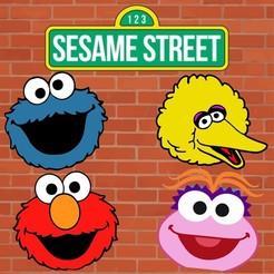 Sin título-2.jpg Download STL file Set 4 Sesame Street Cookies Cutters • 3D printing template, Cookiescutters