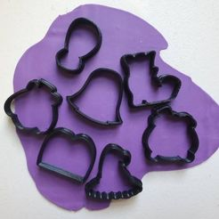 121040298_921285825062450_6136061078174532948_n.jpg Download STL file Set of 12 MINIS Halloween / Halloween Disney Cookie Cutters • 3D printable template, Cookiescutters