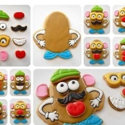CARA DE PAPA.jpg Download STL file MR. POTATO FACE COOKIE CUTTER • 3D printable design, Cookiescutters