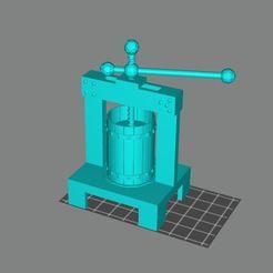 Capture.JPG Télécharger fichier STL gratuit Presse à vin 28mm avec supports pour la résine • Design pour imprimante 3D, AgeOfPrint