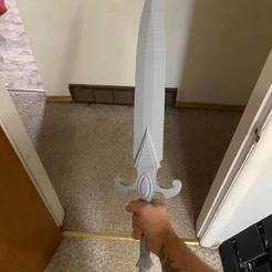 DnD_Short_Sword.jpg Download free STL file Short Swort. Dnd. Cosplay. Life Size • 3D printable template, TheCloudish