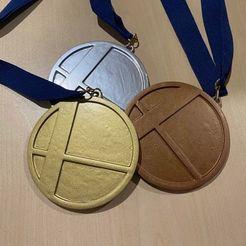 Medals.jpg Download free STL file Smash Bros Large Medal. Medalion. • 3D printing object, TheCloudish