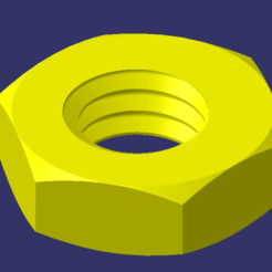 Image1.png Download free STL file Nut M6 / Nuts M6 • Template to 3D print, healor2