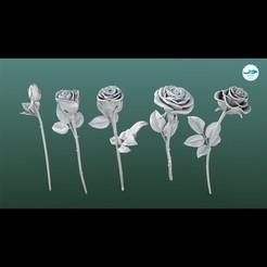 Image000.jpg Télécharger fichier STL Fleurs de roses • Design imprimable en 3D, DolphinStudio
