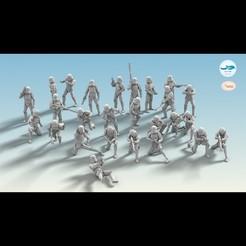 Type Machine_00.jpg Download STL file 26 Figure Stormtrooper Set • 3D printing model, DolphinStudio