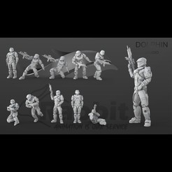 firsth image1.jpg Download STL file Halo Spartan IV Figure Set 01 • 3D printable model, DolphinStudio