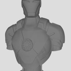 Ironman.JPG Download free STL file ironman bust • Template to 3D print, stl3dprints
